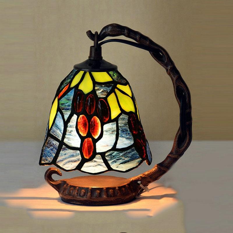 Lampes de Table Tiffany luxueux ancien jardin E14 lampes de chevet salon décoration veilleuse chambre lampe