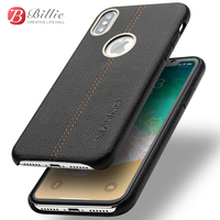 QIALINO Full Protective Genuine Leather Case For iPhone X / 10 Luxury Ultrathin Cases for iPhone X fashion Cover for 5.8 inch