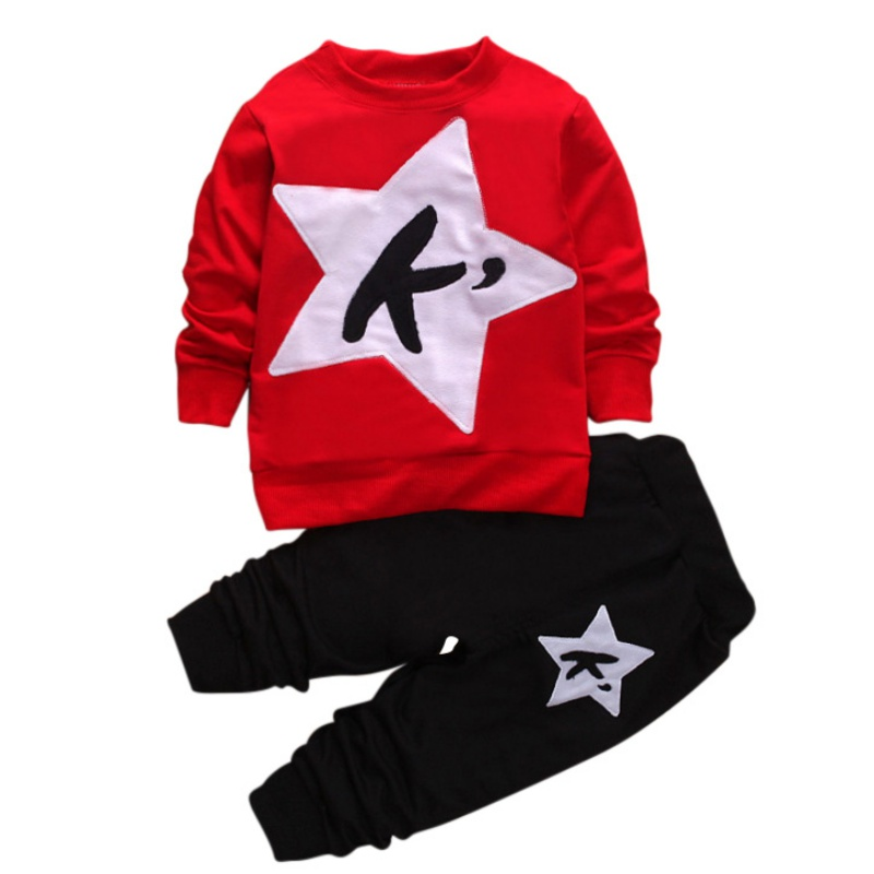 Children Boys Tracksuit Autumn Children Sets Boys Girls Warm Long Sleeve Sweatshirt + Pants Fashion Kids Sports Suit