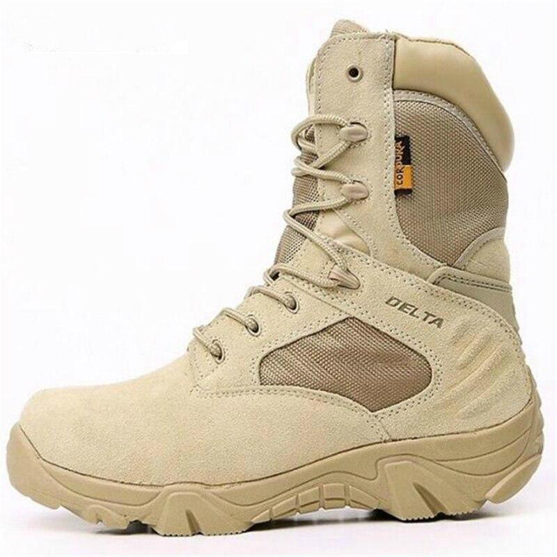 Hommes Delta militaire bottes tactiques chaussures de randonnée en plein air chaussures de voyage Commando hiver en plein air en cuir imperméable chaud hommes chaussures