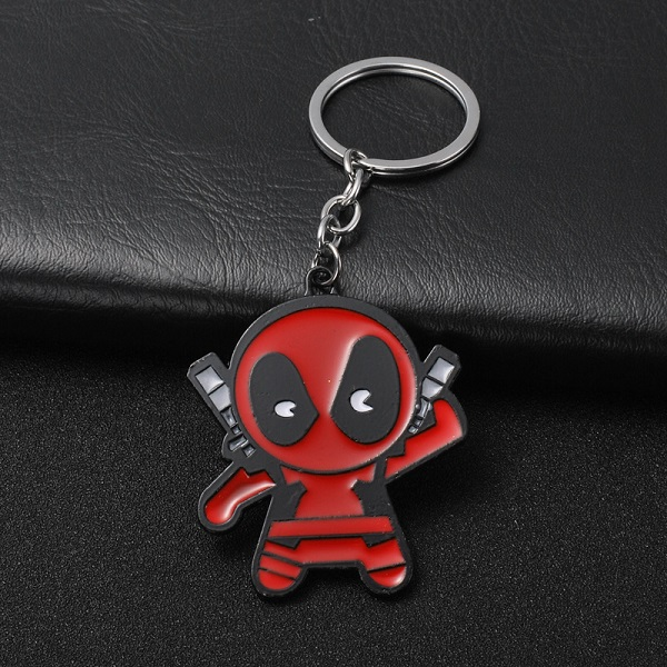 High Quality Fashion Deadpool Keychain Beer Bottle Opener Key Rings For Gift Car Key Chain Movie Key Holder Souvenir Accessories in Key Chains from Jewelry Accessories