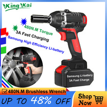 360N/M 9800mAh Multifunctional Cordless Rechargeable Electric Wrench With 3 Picece Lithium Battery greenworks 24v lithium battery 1 2 inch impact wrench 300n m cordless wrench with battery and charger