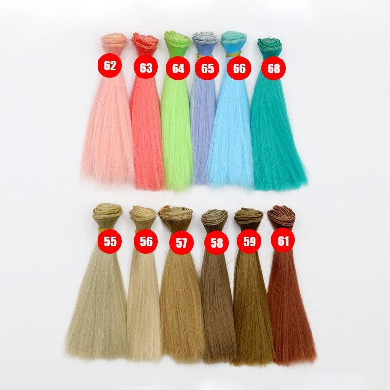 DIY Multicolor Dolls Wig Straight Hair For 1//3 1//4 1//6 BJD SD Dolls Hair Wigs US