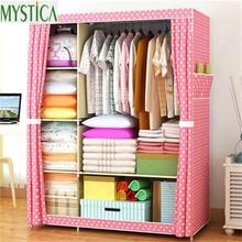 2017 NEW Non-woven Wardrobe Closet Large And Medium-sized Storage Cabinets Simple Folding Reinforcement Receive Stowed Clothes