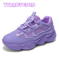 YTracyGold Trainers Women Flats Platform Shoes Ladies Sneakers Casual Shoes Women Footwear Height Increasing Shoes Basket