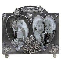 Classical European Retro Luxury Alloy Love Carved Wedding Retrato Wedding Photo Frame