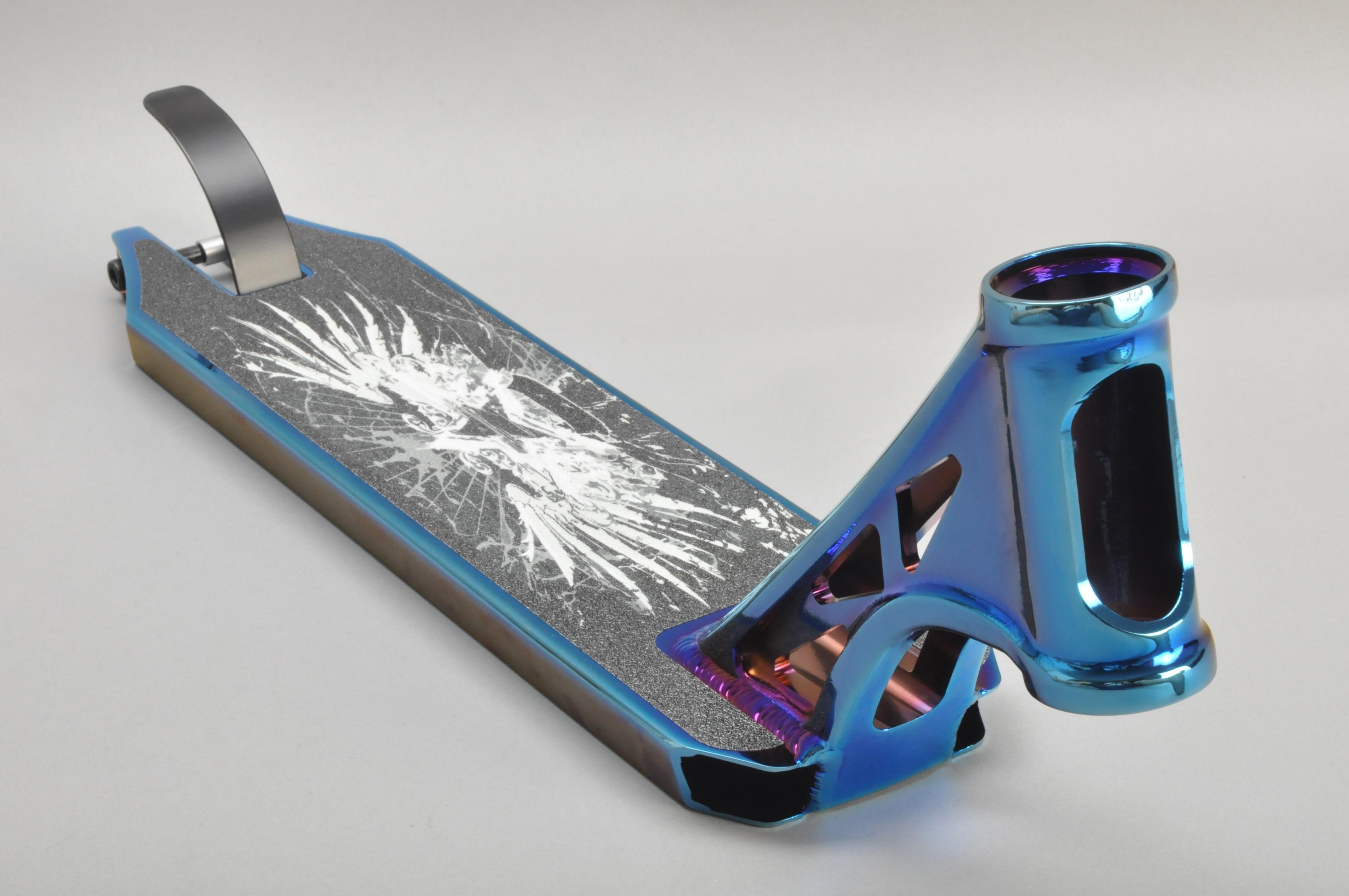 Funsea producent porcelany 115*500mm stopu aluminium 6061 części skuter PVD niebieski hulajnoga pokłady hulajnoga deck