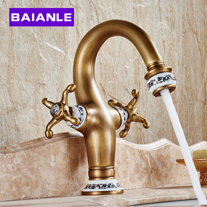 New Antique Basin Faucet Brass & Porcelain Base Hot and Cold Water Double Handle Mixer Taps pastoralism and agriculture pennar basin india