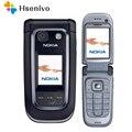Разблокированный Мобильный телефон Nokia 6267 Filp  100% оригинал  четырехдиапазонный телефон  русская клавиатура  Восстановленный  бесплатная дос...
