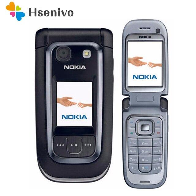 هاتف نقال 100% أصلي غير مقفول من Nokia 6267 Filp هاتف رباعي الموجات لوحة مفاتيح روسية مجددة شحن مجاني