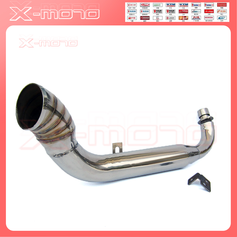 US $39 34 39% OFF|motorcycle Custom Stainless steel Turn Out Muffler  Exhaust for 50cc 70cc 110cc Monkey Bike Z50 dax motorcycle Muffler  Exhaust-in