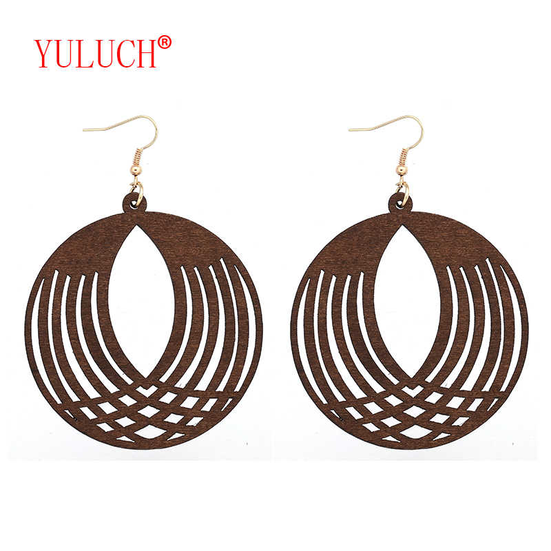 YULUCH 2018 Fashion Women Jewelry Accessories Earrings for Ethnic Graphic Open Eyes Pendant Pop Earrings Gifts