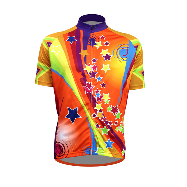 ... Clothing Sale Cycle Source · 2018 Cycling Jersey Short Sleeve Rainbow  Stars sport Cycling 26b4b7138