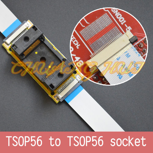 Program SMD welding TSOP56 to TSOP56 On line test socket Pitch=0.5mm SMD welding TSOP56 ic socket Adapter IC51-0562-003 import block adapter ic51 0562 1387 adapter tsop56 test burn
