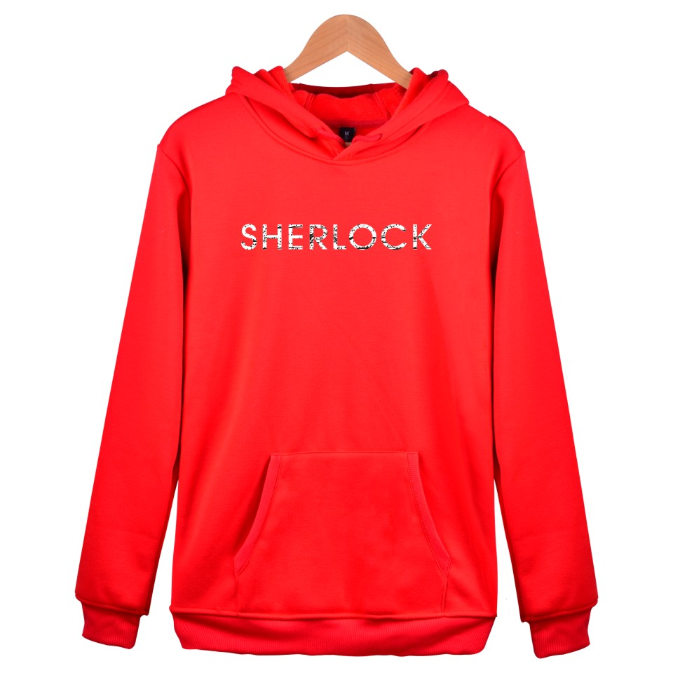 Hot Sale Sherlock Hoodies Mens Warm Colthes With XXS To 4XL And Sher Lock Holmes Hooded Women Sweatshirt With Cap Black Garments