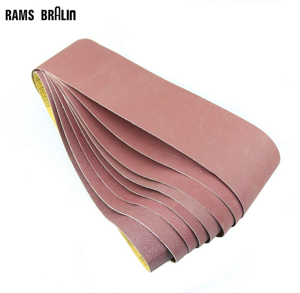 5 Pieces 915*100mm Sanding Belts P60 - P800 Abrasive Sanding Screen Band 4