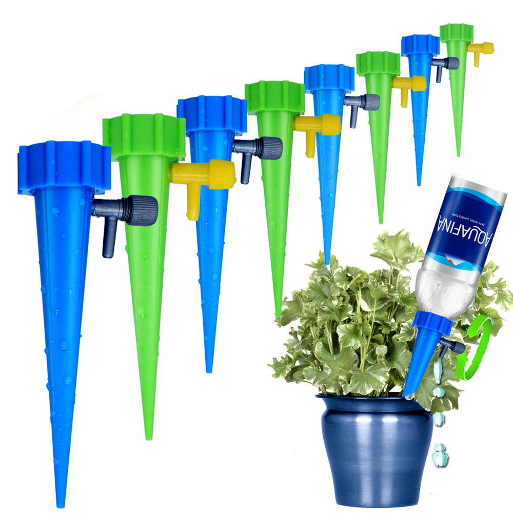 Plant Self Watering Adjustable Stakes System Vacation Waterer Automatic Spikes Irrigation X