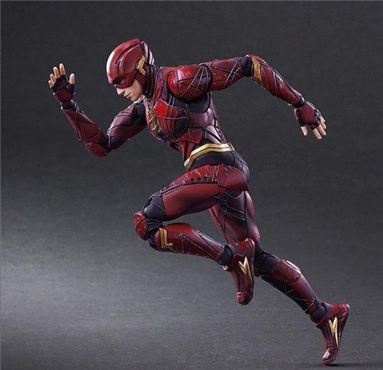 PLAY ARTS Justice League Flash DC Super Hero 25cm Action Figure Model Toys
