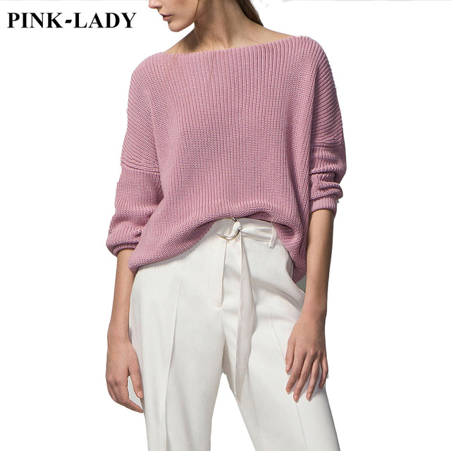 2015 Autumn Winter New Arrivals Female Loose Sweaters Jumper Women's Fashion Solid Knitted Sweaters Pullovers Pink White Black