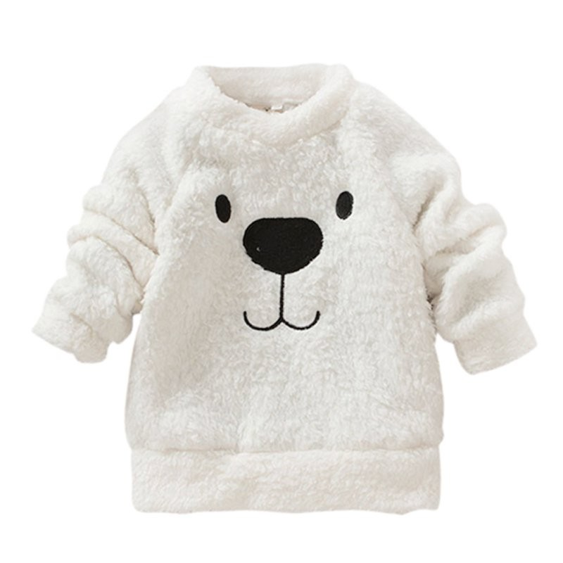 17 New Arrival Autumn winter models Children Baby Clothing Boys Girls Lovely Bear Furry White Coat Thick Sweater Warm Coat 1