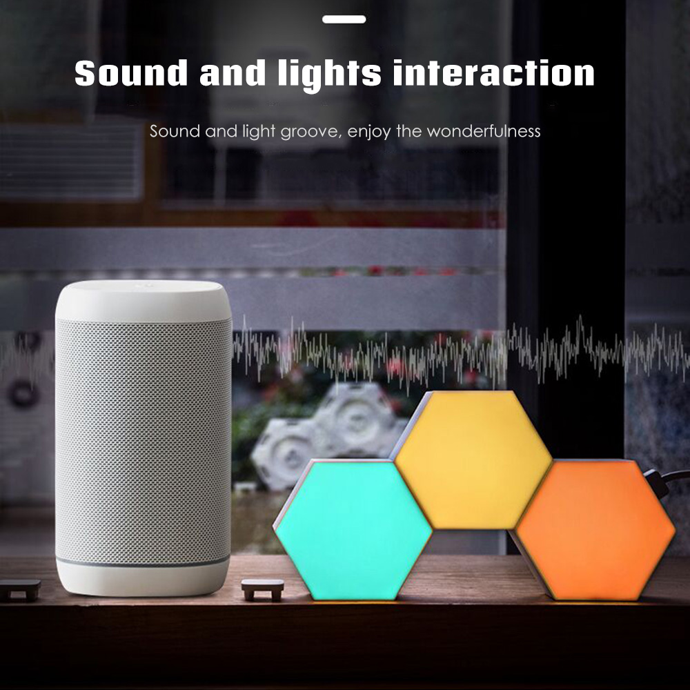 Lifesmart Cololight Quantum Lamp LED Decoration Night Light Creative Geometry Assembly Smart APP  With Amazon Alexa Smart Lamp
