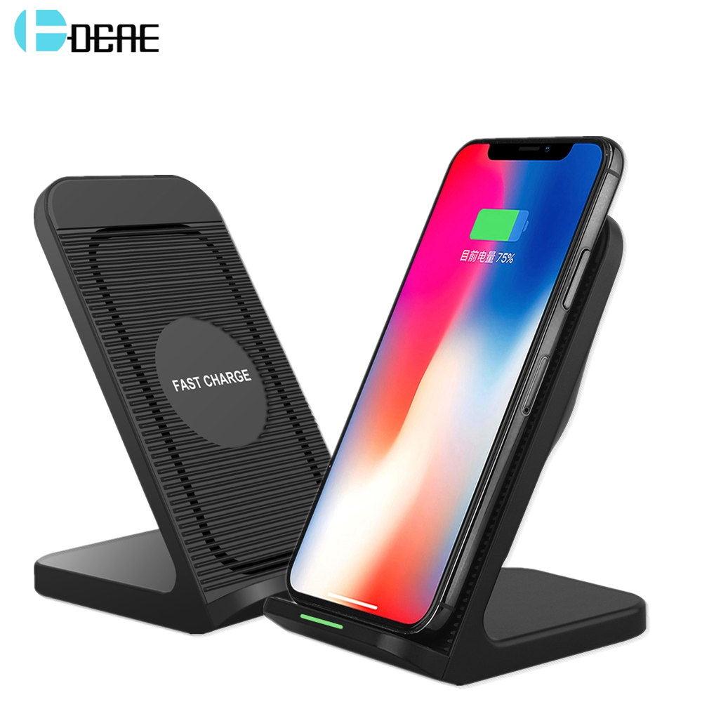 DCAE QI Chargeur Sans Fil Support Pour iPhone XS Max XR X 8plus 10W Charge Rapide support pour samsung S9 S8 Note 8 9 Xiaomi Mix 3 2S