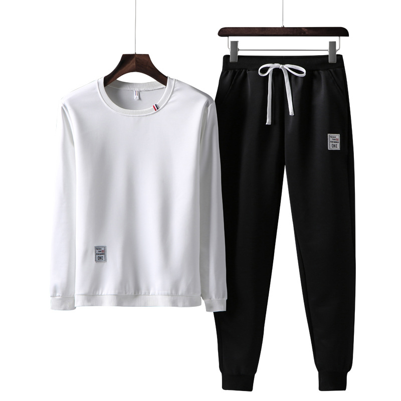Rlyaeiz Tracksuit Men Sweat Suit Men Clothes 2018 Autumn Preppy Style Casual Two Piece Sets Hoodies + Pants Male Sporting Suits