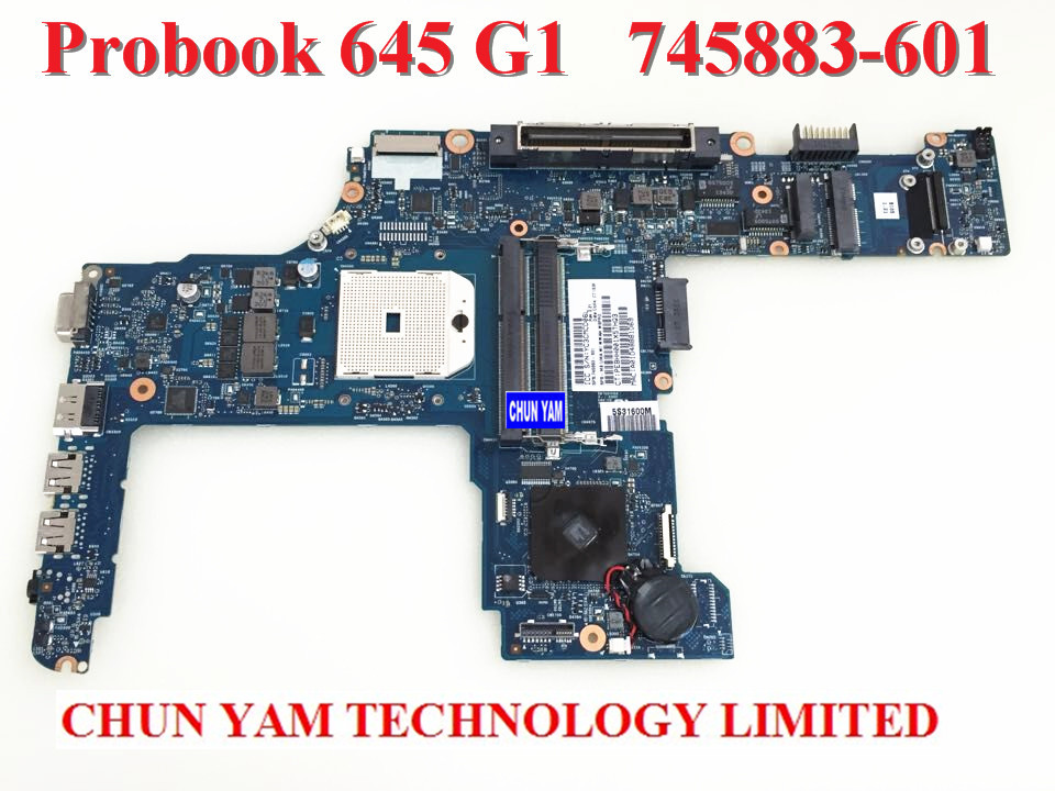 FOR HP probook 645 655 G1 Laptop Motherboard 745883-001 745883-601 Notebook Mainboard 90Days Warranty 100% tested