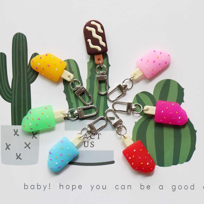 Nữ dễ thương Kem Dính Popsicle Móc Khóa Nhiều Màu Sắc Mùa Hè Kem Ngọt Móc Khóa Móc Khóa Mặt Dây Chuyền Túi Trang Trí phụ kiện