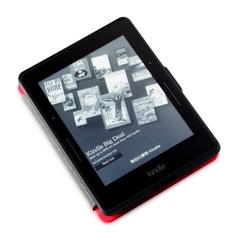 red pu leather ebook case for amazon kindle voyage ereader cases (2)