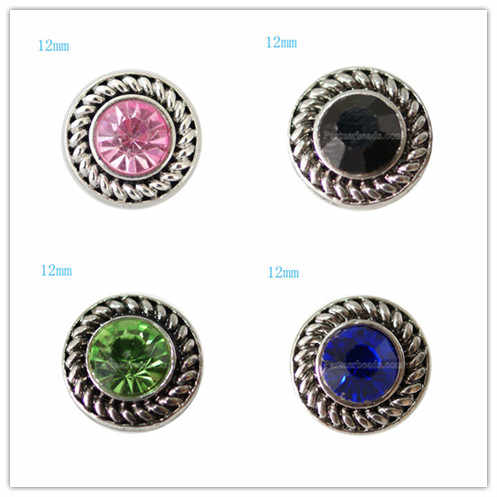 Partnerbeads 9 colores metal pequeño 12mm snap beads fit 12mm cuentas pulsera joyería KB7241-S