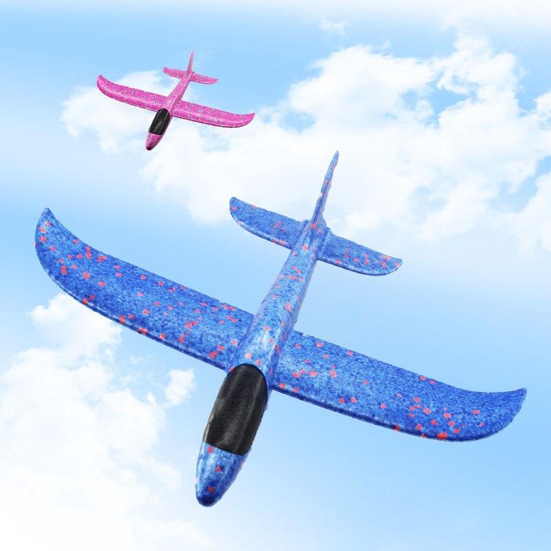 DIY Small 35CM Aircraft Outdoor Launcher Throwing Flight Glider EVA Foam Hand Throwing Aircraft Epp Foam Aircraft Model Toy Chil