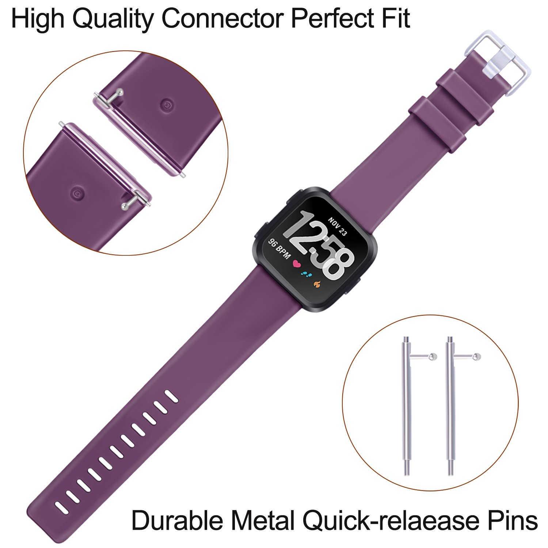 Correa de repuesto Coolaxy para Fitbit Versa/Versa Lite, correa de silicona resistente al agua, accesorios para pulsera Fitbit Versa