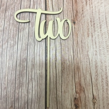 20pcs laser cut out TWO wood number baby shower cake topper happy birthday wood cake toppers two tone cut out chain bag