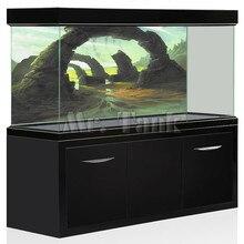 Mr. Tank ПВХ аквариум задний план плакат 3D эффект КАМЕНЬ АРКИ ворота HD пейзаж аквариума фон декоративные Стикеры