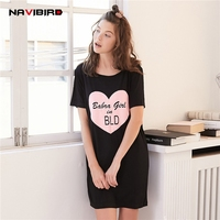 Summer O Neck Heart Shaped Short Sleep Tops Dressing Pajama For Women Solid Casual Sleep Lounge Sleep Shirt 2018 Home Nightwear