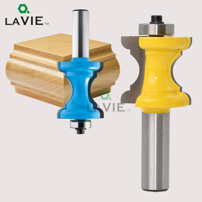 LA VIE 1PC 1/2 Concave Radius Milling Cutters Convex Column Line knife Molding Router Bit Tenon Cutter for Woodworking MC03006