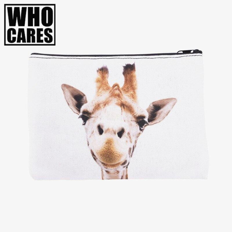 Giraffe 3D Printing Pencil bags cosmetic bag 2016 Fashion New cosmetiquera makeup bag trousse de maquillage neceser organizer