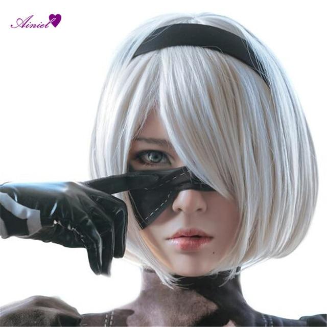 Ainiel NieR: Automata YoRHa No.2 Type B and YoRHa No. 9 Type S Headwear  NieR : Automata 2B 9S Cosplay Hair