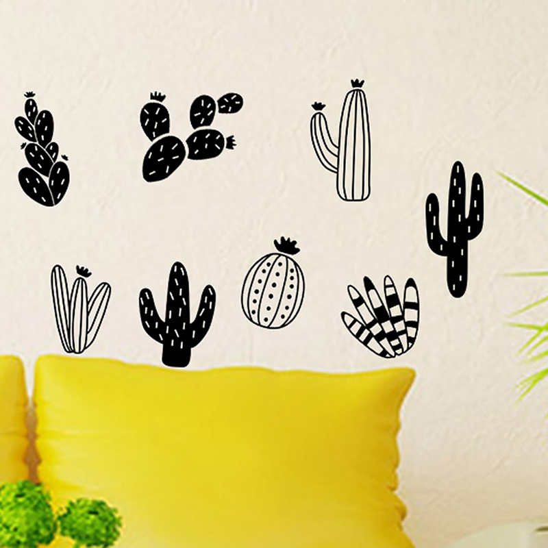 Cactus Wall Decals Woodland Tribal Cactus Wall Stickers Decor Art ...