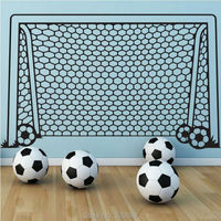Wall Decal Vinyl Decor Art Wall Sticker Soccer Football Goal Net Ball Sports Home Decor