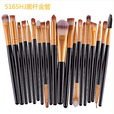 Makeup Brushes 20 Pcs Professional Makeup Brush Set Cosmetics Eyeliner Eyeshadow Make Up Tools Beauty Pencil Brush Kits 10pcs lot cctv dvr av devices connector accessories phono rca male plug to av screw terminal block connector kit tools