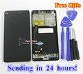 Alta Qualidade de Vidro Da Tela De Toque E Display LCD Digitador Assembléia TP para xiaomi 4c mi4c m4c smart phone cor preta com moldura