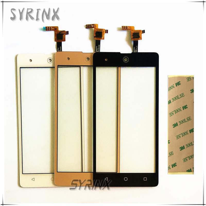 Syrinx 3M Tape Moible Phone Touchscreen For BQ BQS-5050 BQS 5050 Smartphone Touch Screen Digitizer Panel Front Glass Lens Sensor