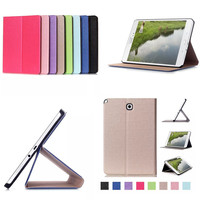 CY Luxury Brand Flip PU Leather Stand Smart Case For Samsung Galaxy Tab A 8 0