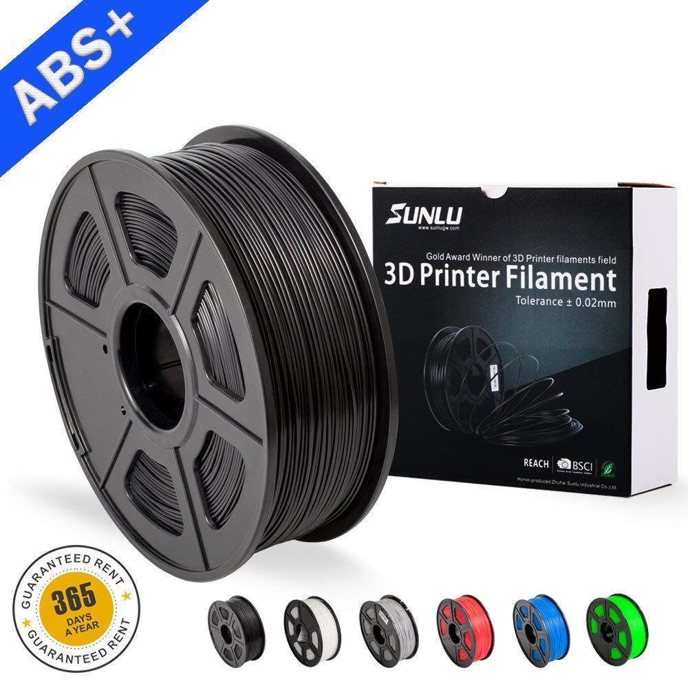 SUNLU ABS Plus Filament pour imprimante 3d 1.75MM 3D matériaux d'impression bonne ténacité plastique haute température ABS
