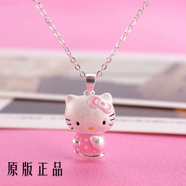 Aliexpress sale fashion cute hello kitty women choker necklace 925 aliexpress sale fashion cute hello kitty women choker necklace 925 sterling silver gold enamel necklace pendants mozeypictures Image collections