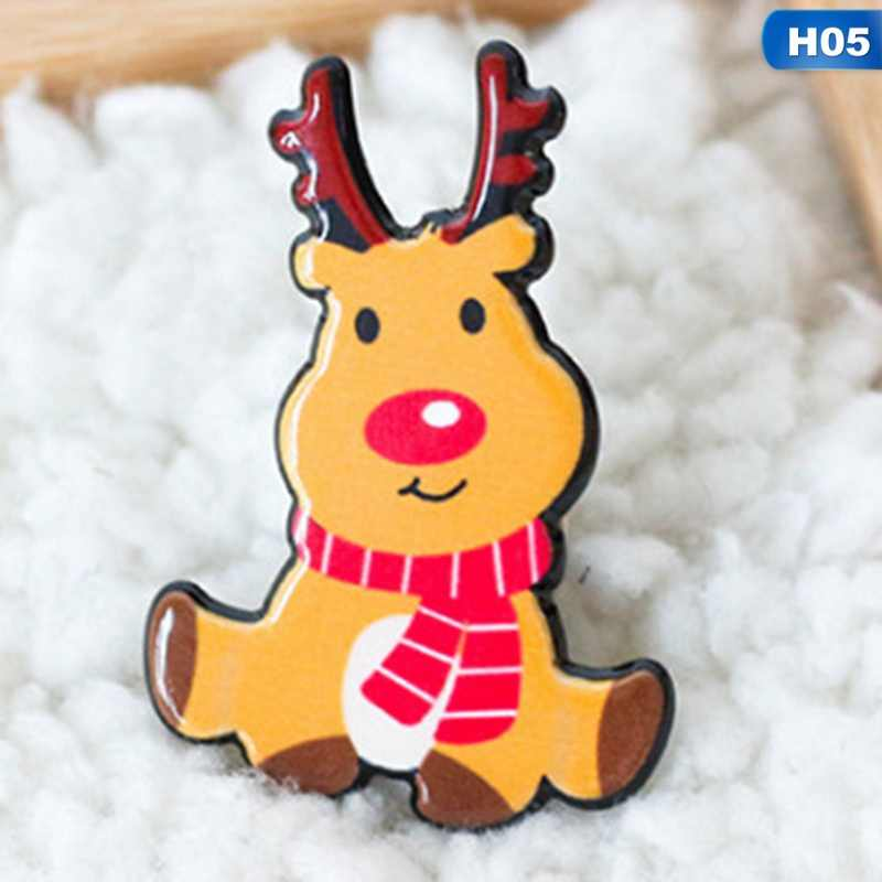 091cd480a8fbe ... Christmas Gift Acrylic Badges Pin Brooches Santa Claus Snowman Elk Pin  for Kids T Shirt Sweater