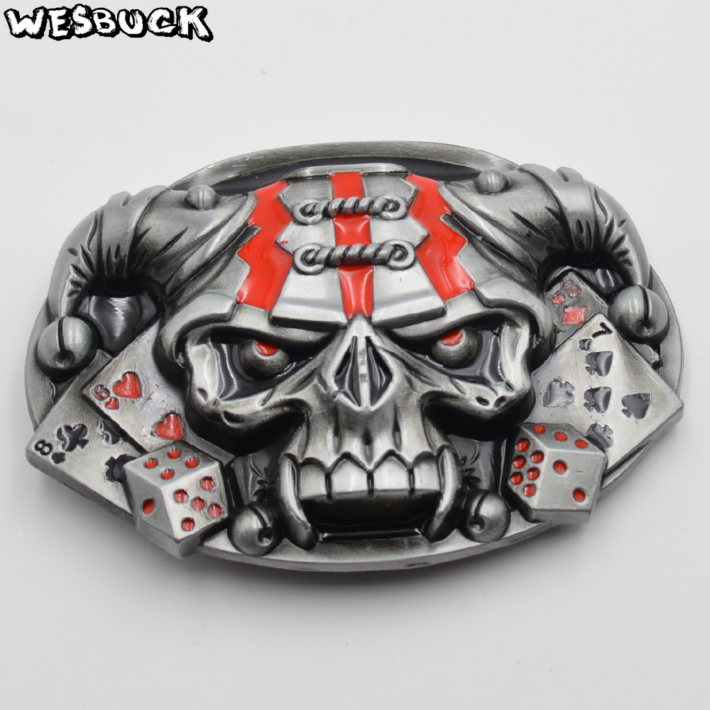 Arts,crafts & Sewing Retail Good Plating Skull Belt Buckle Cowboy Cowgirl Cool Skeleton Skull Head Metal Buckles Apparel Accessories Suit 4cm Pu Belt 2019 Official Buckles & Hooks