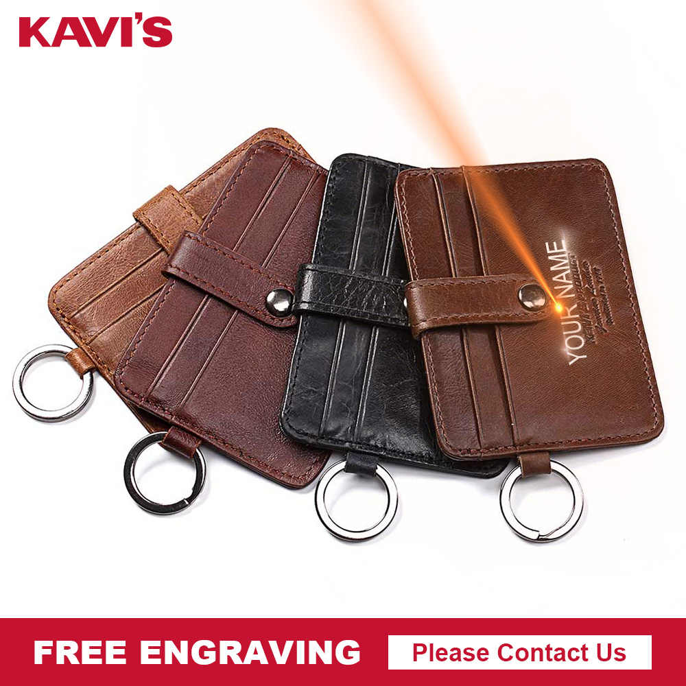 KAVIS Mini Hasp Leather Credit Card Wallet Color Men Credit ID Card Holder Small Wallet Coin Purse Slim Thin Male  Walet Fashion